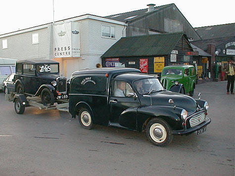 Morris Minor 1000 van with A7