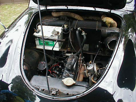 Austin A30 engine bay