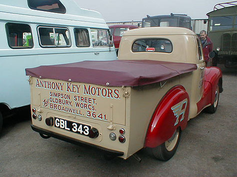 Austin A40 Devon pickup rear view