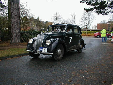 Morris 8 Series E on a historic rally